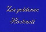 Sticker - Zur goldenen Hochzeit - gold - 433