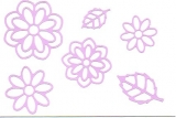 Sticker - Blumen 19 - flieder - 1113
