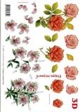 3D-Bogen Rosen und Lilien von LeSuh (416918)