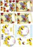 3D-Bogen Veilchen und Narzissen von LeSuh (4169635)