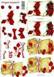 3D-Bogen Rose in Pergament von LeSuh (4169663)