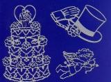 Sticker - Hochzeitsmotive - silber - 802