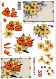 3D-Bogen Tulpen und Narzissen von LeSuh (416939)
