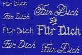 Sticker - Für Dich - silber - 487