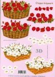 3D-Bogen Rosen und Margeriten von LeSuh (416943)