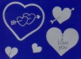 Sticker - Herzen 3 - silber - 801