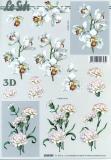 3D-Bogen Weiße Blumen von LeSuh (4169757)
