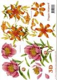 3D-Bogen Rosen und Lilien von LeSuh (416978)