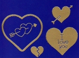 Sticker - Herzen 3 - gold - 801