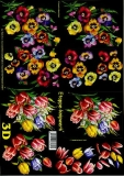 3D-Bogen Veilchen und Tulpen von LeSuh (4169128)