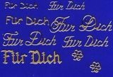 Sticker - Für Dich - gold - 487