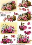3D-Bogen Katze und Rosen von LeSuh (4169611)