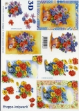 3D-Bogen Vase mit Blumen von LeSuh (4169225)