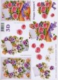 3D-Bogen Rosen und Veilchen von LeSuh (416928)