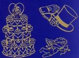 Sticker - Hochzeitsmotive - gold - 802