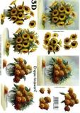 3D-Bogen Sonnenblume und Hortensie von LeSuh (4169644)
