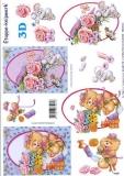 3D-Bogen Rosen mit Bärchen von LeSuh (4169175)