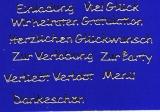 Sticker - Schriften zu verschiedenen Anlässen - gold - 442