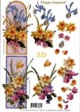 3D-Bogen Narzissen und Iris von LeSuh (416929)