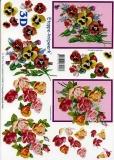 3D-Bogen Veilchen und Rosen von LeSuh (4169235)