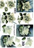 3D-Bogen Weiße Rosen von LeSuh (4169625)