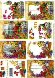 3D-Bogen Blumen im Fenstervon LeSuh (4169161)