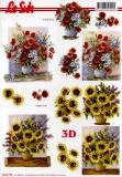 3D-Bogen Mohn und Sonnenblumen von LeSuh (4169775)