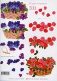 3D-Bogen Veilchen und Rosen von LeSuh (416913)