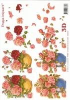 3D-Bogen Rosen in Vase von LeSuh (416902)