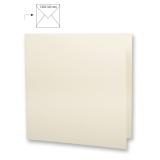 5x Doppelkarten quadratisch elfenbein