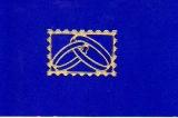 Sticker - Briefmarke Ringe - gold - 908