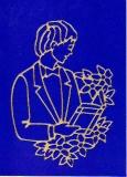 Sticker - Motiv Junge 2 - gold - 890